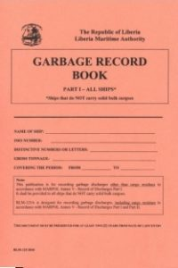 garbage record book