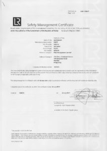 safety management certificate