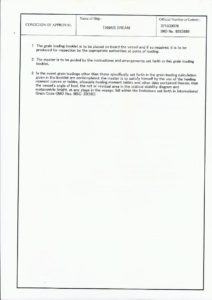 document of authorization for carriage of grain